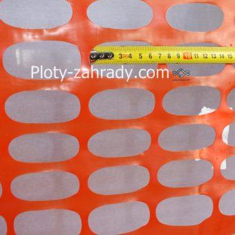 Oranžový plastový výstražný plot cena