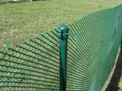 Stĺpiky k sieťam proti žabám 100 cm výška, zelené