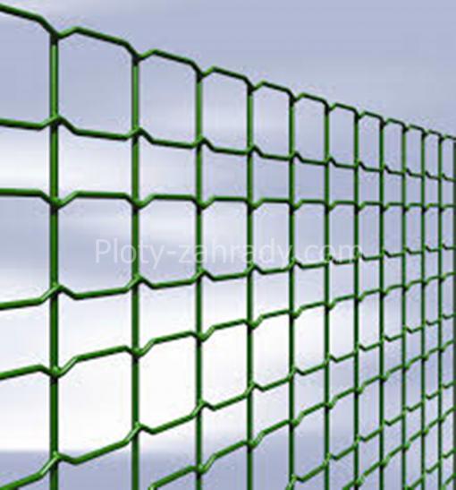 Zvárané siete zelené elegantné 2,4-2,6 mm