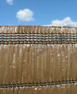 Tieniaca clona na plot hnedá 100 % je vyrobená zo syntetickej palmovej kôry cená